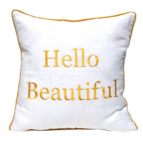Hello Beautiful Pillow by Hello Beautiful Pillow Home Goods