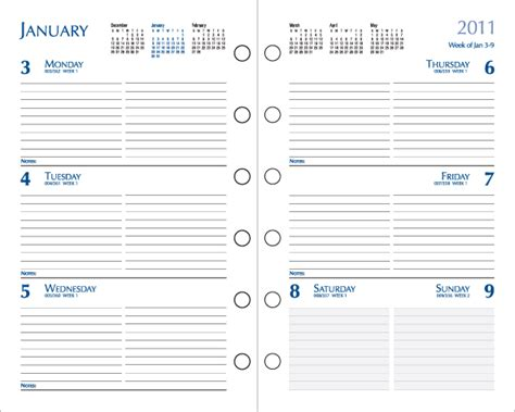 printable day planner software 5 best images of free printable planner refills free