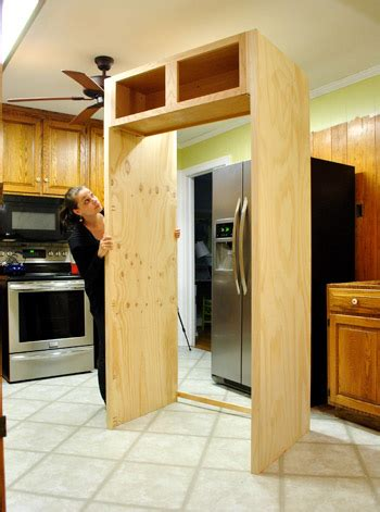 how to build a refrigerator cabinet how to build in your fridge with a cabinet on top
