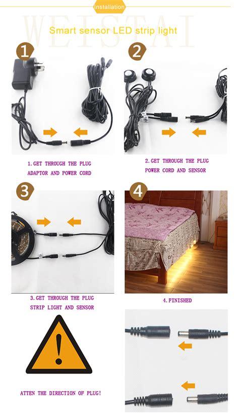 motion sensor under bed light motion activated under bed night light dual led strips