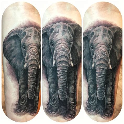 level up tattoo elephant walk blackwork level up studio