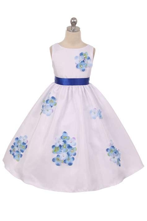 Ohome Pajangan 3d Poly Dress In Blue Decor Ev Sp 3914 B white purple poly silk flower dress with 3d flower petals