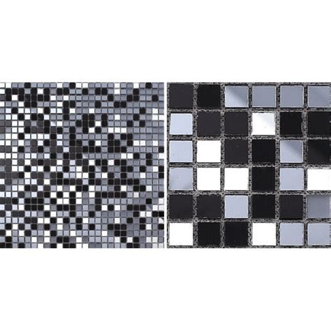 glass mosaic tiles mirrored backsplash tile