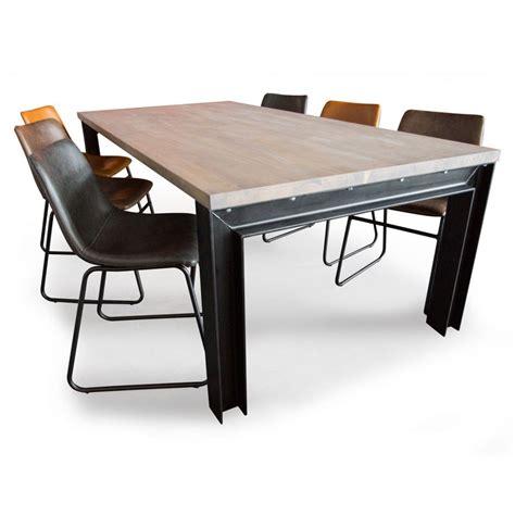 industriele tafel amsterdam industri 235 le eettafelset met leren stoelen zooff nl