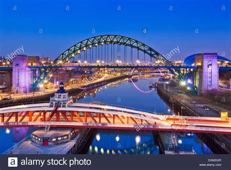 swing tyne newcastle upon tyne city view with tyne bridge and swing