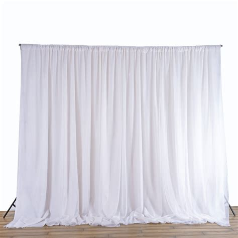 Wedding Backdrop Curtains 20 Ft X 8 Ft White Fabric Backdrop Wedding Altar Ceremony