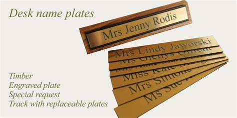 clear acrylic desk name plates desk name plate clear acrylic desk sign