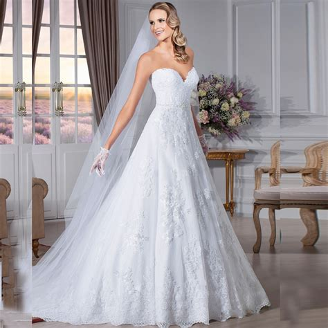 a line wedding dresses 2016 backless lace bridal gown