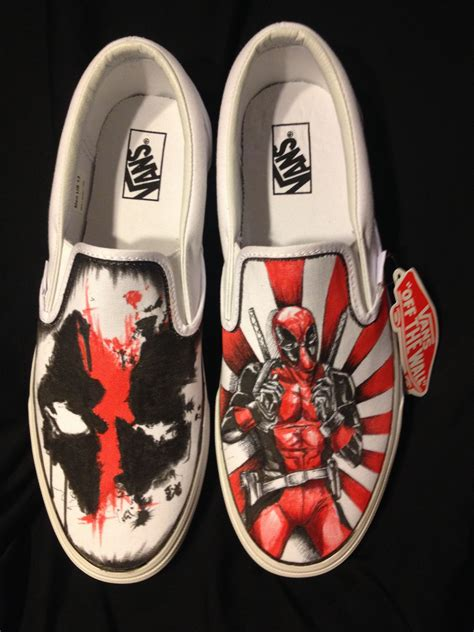 customized shoes buy made deadpool custom shoes made to