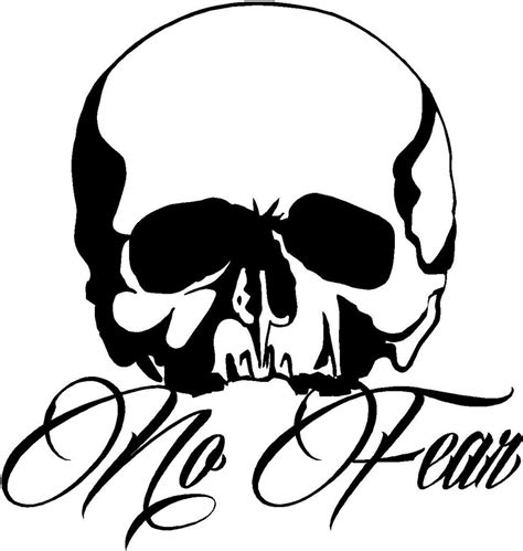 no fear tattoo style skull sticker skull bike scooter