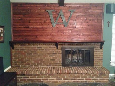 diy stain fireplace brick wilker do s