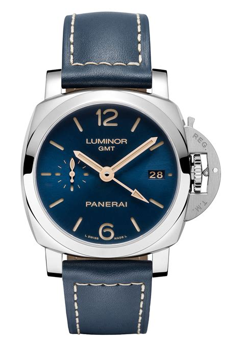 Panerai Carbotech Luminor Gmt Blue Blue Seafarers 4 Panerai Watches With Blue Dials