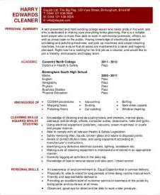 Office Cleaning Resume by Choose Sle Resume For Cleaner Resume Cv Cover Letter Professional House Cleaner Resume