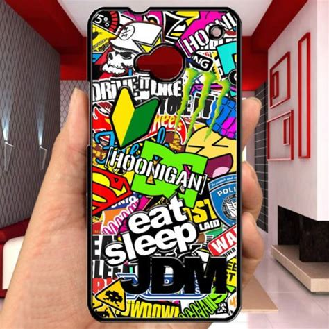 Eatsleep Jdm For Htc One M7 cheap eat sleep jdm hoonigan stickerbomb sticker bomb htc