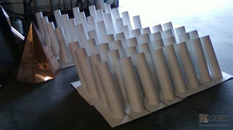 Custom white aluminum stink pipes   Stack vents