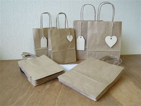 Craft Paper Gift Bags - gift bag pack craft paper with tags and tissue for