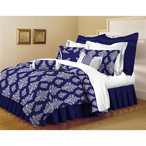 Home Trends Bedding Sets Home Dynamix Classic Trends Indigo 5 Comforter Set F Q Mill 661 The Home Depot