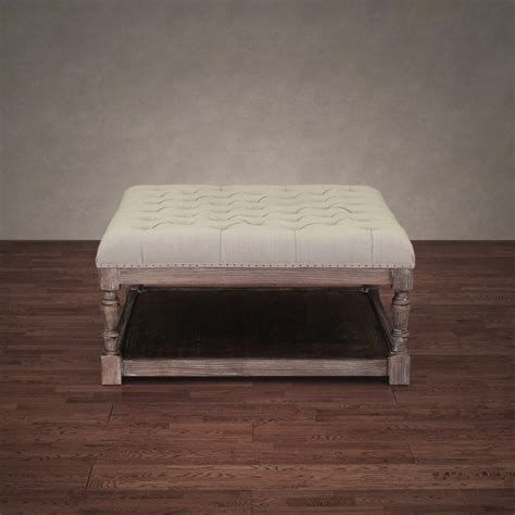 tufted ottoman bench stool foot modern coffee accent table