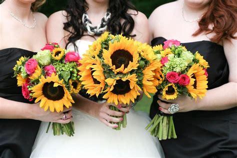 yellow and pink sunflowers flower sunflower bouquets sunflower wedding flowers yellow and