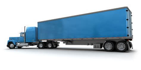 delivery truck white cabin blue trailer stock photos