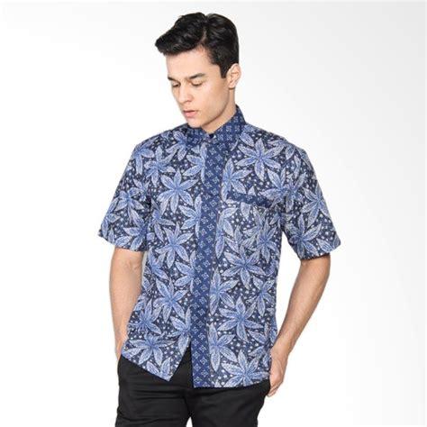 Batik Kemeja Hem Cowok jual jogja batik rasta hem batik kerja kemeja pria biru harga kualitas terjamin