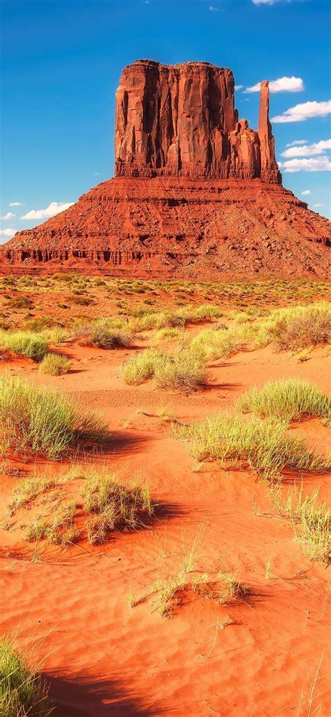 wallpaper desert rocks mountains grass usa arizona  uhd  picture image