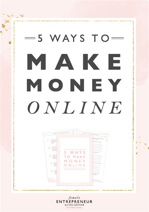 5 Ways To Make Money 5 Ways To Make Money Entrepreneur Association