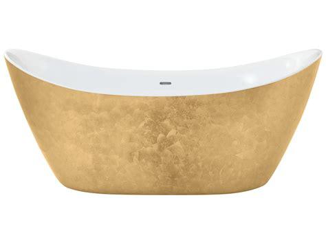 Heritage Hylton Freestanding Gold Effect Acrylic Bath 1730 Gold Effect Bathroom Accessories