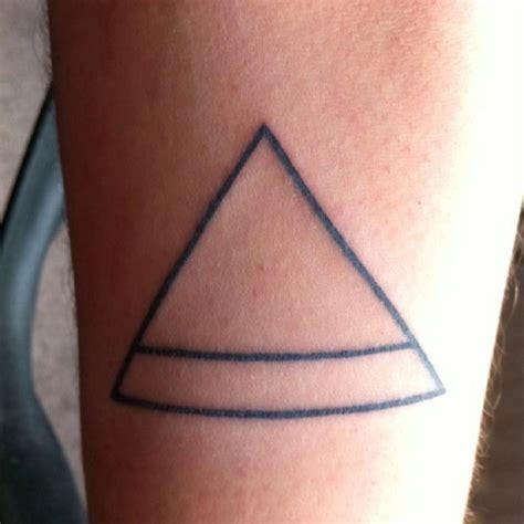 simple tattoo and meaning a tattoo of the ancient symbol for air very simple tattoo