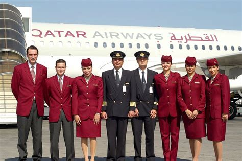 Cabin Crew by Smile Of Qatar Air Stewardesses World Stewardess Crews