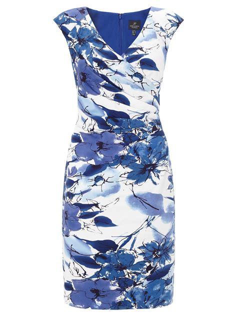 Sleeve Floral Sheath Dress lyst papell cap sleeve floral print sheath