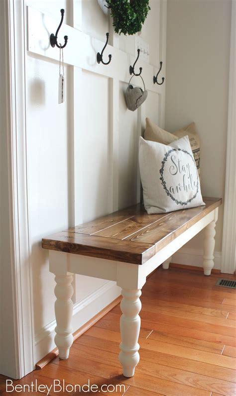 diy farmhouse bench tutorial bench decor home decor