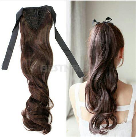 Hairclip Rambut Palsu Panjang Curly Coklat Import jual ponytail ikat curly hairclip ekor kuda rpkshop