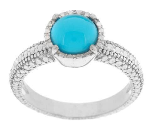 sleeping turquoise sterling silver ring qvc