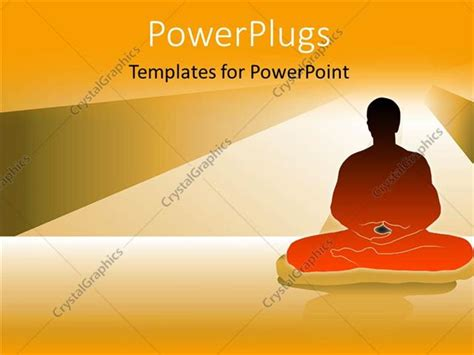 ppt templates for yoga powerpoint template a person in a yoga hape with lights