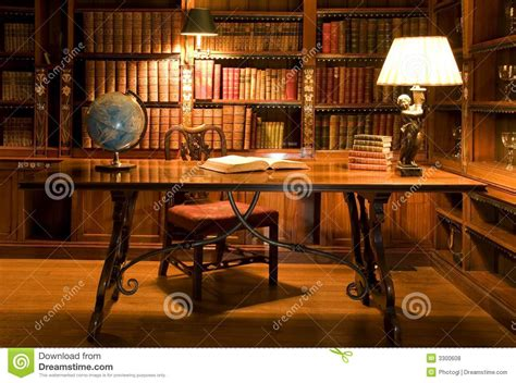 reading room in old library royalty free stock photos