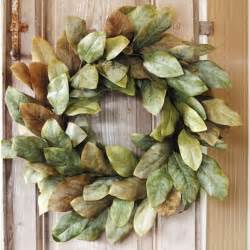 Magnolia Wreaths For Front Door Magnolia Wreath Traditional Wreaths And Garlands By Home Decorators Collection
