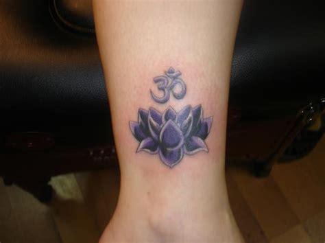Purple Lotus With Om Tattoo Lotus And Om Tattoos