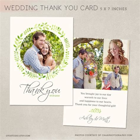 wedding thank you cards templates psd wedding thank you card template for photographers psd flat