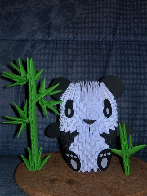 Origami 3d Panda - panda origami 3d by shinyoyushiro on deviantart