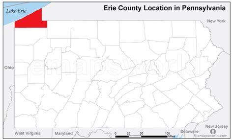 printable map erie pa erie county location map pennsylvania emapsworld com