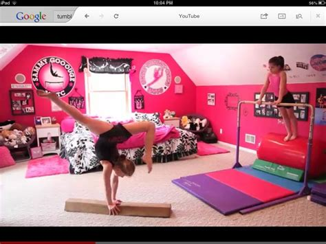 gymnastics themed bedrooms gymnastics room my room pinterest gymnasts plays