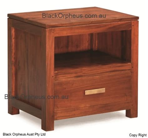 Bedside Table With Drawer And Shelf by Bedside Table 1 Drawer 1 Shelf Black Orpheus