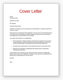 Cover Letter For Va Resume Sles