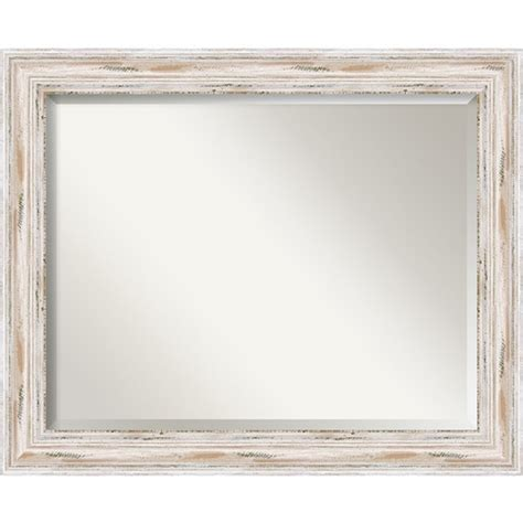 Large Vanity Mirrors by Distressed White Wash 33 X 27 Inch Large Vanity Mirror Amanti Wall Mirror Mirrors