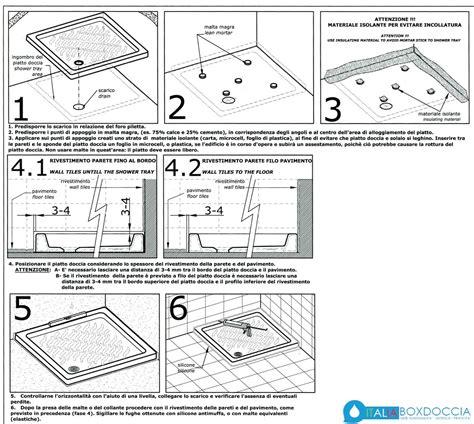montaggio piatto doccia filo pavimento come installare piatto doccia