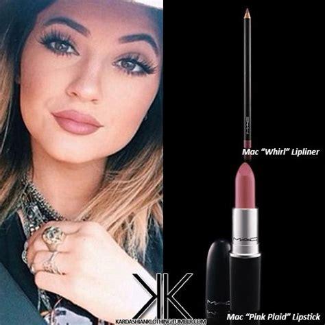 Lipstick Jenner jenner using mac lipstick quot pink plaid quot and mac lipliner quot whirl quot mac