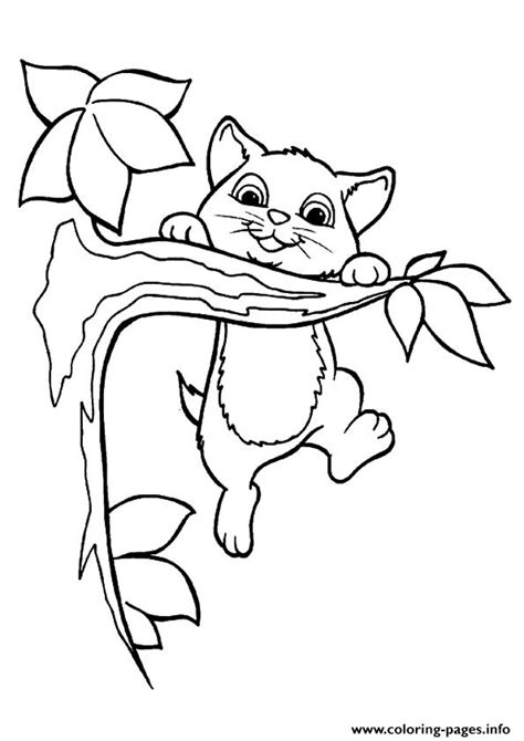 coloring page kittens playing the kitty playing on the tree kitten coloring pages printable
