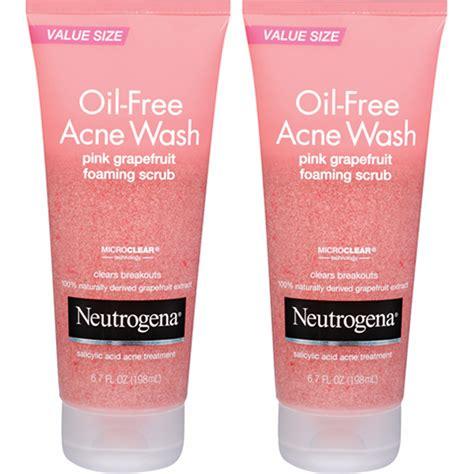 Acne Cleanser Scrub Beta Plus neutrogena free acne wash pink grapefruit foaming scrub 2 pk 6 7 fl oz bj s wholesale club
