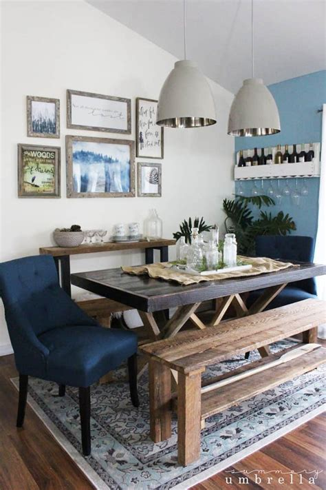 update dining room rustic dining room update the summery umbrella